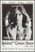 """Movie Posters:Adult, Behind the Green Door (Mitchell Brothers Film Group, 1972). One Sheet (24"""" X 35.5""""). Adult.. ..."""