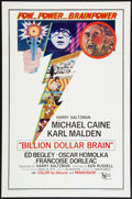 "Movie Posters:Thriller, Billion Dollar Brain (United Artists, 1967). One Sheet (27"" X 41""). Thriller.. ..."