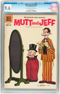 Mutt and Jeff #104 File Copy (Dell, 1958) CGC NM+ 9.6 Cream to off-white pages
