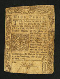 Colonial Notes:Rhode Island, Rhode Island May 3, 1775 9d Very Good.. ...