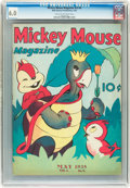 Golden Age (1938-1955):Cartoon Character, Mickey Mouse Magazine V3#8 (K. K. Publications/ Western Publishing Co., 1938) CGC FN 6.0 Cream to off-white pages....