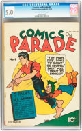 Golden Age (1938-1955):Adventure, Comics On Parade #9 (United Features Syndicate, 1938) CGC VG/FN 5.0 Off-white to white pages....