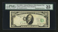 Error Notes:Shifted Third Printing, Fr. 2011-J $10 1950A Federal Reserve Note. PMG Very Fine 25.. ...