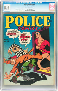 Police Comics #29 (Quality, 1944) CGC VF+ 8.5 Off-white to white pages