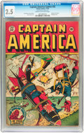 Golden Age (1938-1955):Superhero, Captain America Comics #32 (Timely, 1943) CGC GD+ 2.5 Cream to off-white pages....