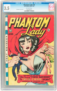 Phantom Lady #18 (Fox Features Syndicate, 1948) CGC VG- 3.5 Off-white pages