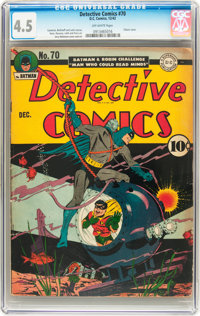 Detective Comics #70 (DC, 1942) CGC VG+ 4.5 Off-white pages