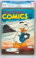 Golden Age (1938-1955):Cartoon Character, Walt Disney's Comics and Stories #6 (Dell, 1941) CGC VG- 3.5Off-white pages....