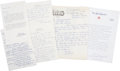 Baseball Collectibles:Others, Baseball Hall of Famers Signed Letters Lot of 5....