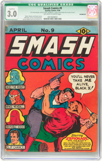 Smash Comics #9 Incomplete (Quality, 1940) CGC Qualified GD/VG 3.0 Off-white to white pages