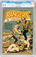 Golden Age (1938-1955):War, Rangers Comics #19 (Fiction House, 1944) CGC FN 6.0 Cream tooff-white pages....