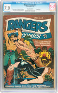 Golden Age (1938-1955):Adventure, Rangers Comics #14 (Fiction House, 1943) CGC FN/VF 7.0 Off-white pages....