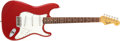 Musical Instruments:Electric Guitars, 1965 Fender Stratocaster Candy Apple Red Guitar, #125825....