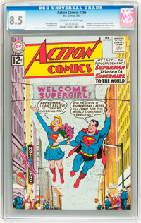Action Comics #285 (DC, 1962) CGC VF+ 8.5 Off-white to white pages