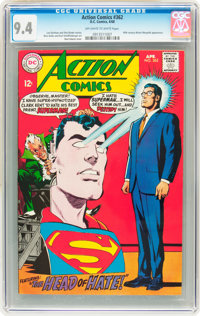 Action Comics #362 (DC, 1968) CGC NM 9.4 Off-white to white pages