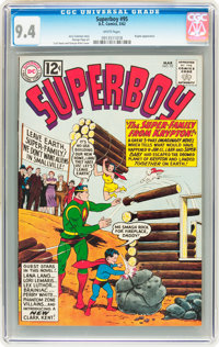Superboy #95 (DC, 1962) CGC NM 9.4 White pages