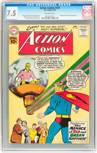 Action Comics #275 (DC, 1961) CGC VF- 7.5 Off-white pages