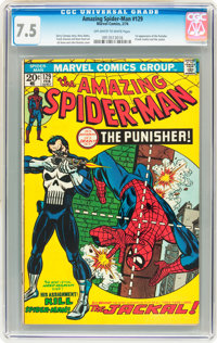 The Amazing Spider-Man #129 (Marvel, 1974) CGC VF- 7.5 Off-white to white pages