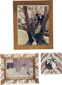 Lucille Ball's Framed Personal Photos, Including Family Portrait