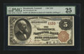 National Bank Notes:Vermont, Woodstock, VT - $5 1882 Brown Back Fr. 467 The Woodstock NB Ch. # 1133. ...