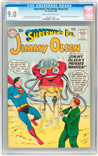 Superman's Pal Jimmy Olsen #43 (DC, 1960) CGC VF/NM 9.0 Cream to off-white pages
