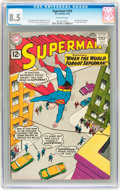 Silver Age (1956-1969):Superhero, Superman #150 (DC, 1962) CGC VF+ 8.5 Off-white pages....