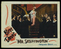 "Movie Posters:Romance, Mrs. Skeffington (Warner Brothers, 1944). Lobby Card (11"" X 14""). Romance. Starring Bette Davis, Claude Rains , Walter Abel ..."