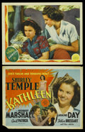 "Movie Posters:Romance, Kathleen (MGM, 1941). Title Lobby Card and Lobby Card (11"" X 14""). Romance. ... (Total: 2 Items)"