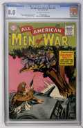 Golden Age (1938-1955):War, All-American Men of War #22 (DC, 1955) CGC VF 8.0 Off-white towhite pages....