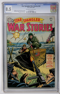 Star Spangled War Stories #24 (DC, 1954) CGC VF+ 8.5 Off-white to white pages