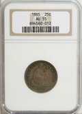 Seated Quarters: , 1865 25C AU55 NGC. NGC Census: (2/21). PCGS Population (2/26).Mintage: 58,800. Numismedia Wsl. Price for NGC/PCGS coin in ...
