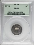Proof Shield Nickels: , 1870 5C PR64 PCGS. PCGS Population (124/75). NGC Census: (106/81).Mintage: 1,000. Numismedia Wsl. Price for NGC/PCGS coin ...