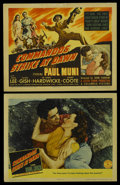 "Movie Posters:War, Commandos Strike at Dawn (Columbia, 1942). Title Lobby Card andLobby Card (11"" X 14""). War. ... (Total: 2 Items)"