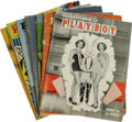 """Movie/TV Memorabilia:Memorabilia, """"Playboy"""" Magazine Group of 7 (1954). From 1954, the first full year of its publication (the first issue came out in Decembe... (Total: 7 Items)"""