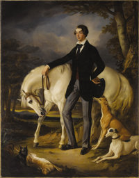 Attributed to SIR FRANCIS GRANT, PRA (Scottish 1803-1878) Portrait of a Young Man, George Osbaldeston