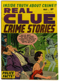 Golden Age (1938-1955):Crime, Real Clue Crime Stories V7#3 Mile High pedigree (Hillman Fall,1952) Condition: FN+....