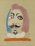 Prints, Pablo Picasso (Spanish, 1881-1973). . Imaginary Portraits (#14 of a series of 29) . 1969. Lithograph. Signed...