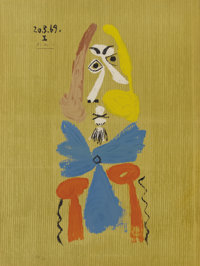 Pablo Picasso (Spanish, 1881-1973)  Imaginary Portraits (#11 of a series of 29)