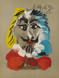 Fine Art - Painting, European:Contemporary   (1950 to present)  , Pablo Picasso (Spanish, 1881-1973). . Imaginary Portraits(#27 of a series of 29) . 1969. Lithograph. Signed...