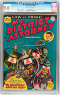 Golden Age (1938-1955):Crime, Mr. District Attorney #5 (DC, 1948) CGC VF/NM 9.0 Off-white to white pages....