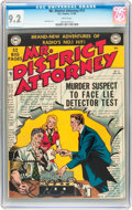Golden Age (1938-1955):Crime, Mr. District Attorney #13 (DC, 1950) CGC NM- 9.2 White pages....