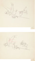 Animation Art:Production Drawing, Carl Barks Alpine Climbers Animation Production DrawingOriginal Art Group (Disney, 1936)....