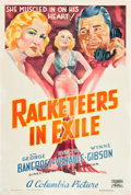 "Movie Posters:Crime, Racketeers in Exile (Columbia, 1937). One Sheet (27"" X 41"").. ..."