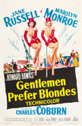 "Movie Posters:Musical, Gentlemen Prefer Blondes (20th Century Fox, 1953). One Sheet (27"" X41"").. ..."