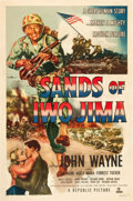 "Movie Posters:War, Sands of Iwo Jima (Republic, 1950). One Sheet (27"" X 41"") Style B.. ..."