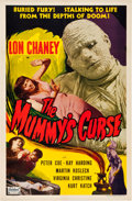 """Movie Posters:Horror, The Mummy's Curse (Realart, R-1951). One Sheet (27"""" X 41"""").. ..."""