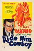 "Movie Posters:Western, Ride Him, Cowboy (Warner Brothers, 1932). One Sheet (27"" X 41"").. ..."