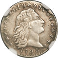 Early Half Dimes, 1795 H10C --Plugged--NGC Details. AU. V-4, LM-10, R.3....