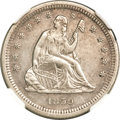 Seated Quarters, 1859-S 25C --Improperly Cleaned--NGC Details. AU....