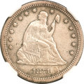 Seated Quarters, 1871-CC 25C --Harshly Cleaned, Obverse Damage--NGC Details. VF....